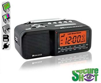SecureShot AM-FM Clock Weather Radio Covert Spy Camera/DVR