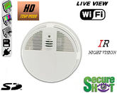 Secure Shot HD Live View Smoke Detector Spy Camera/DVR