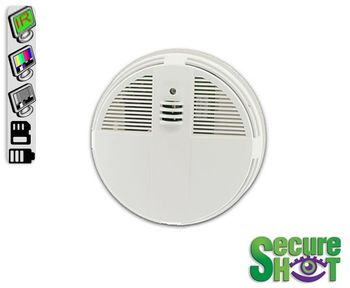 SecureShot Smoke Detector Covert Camera/DVR w/IRs