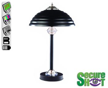 SecureShot Nightvision Standard Size Touch Lamp W/6 Second Pre-Record