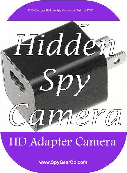 USB Charger Hidden Spy Camera w/Built in DVR