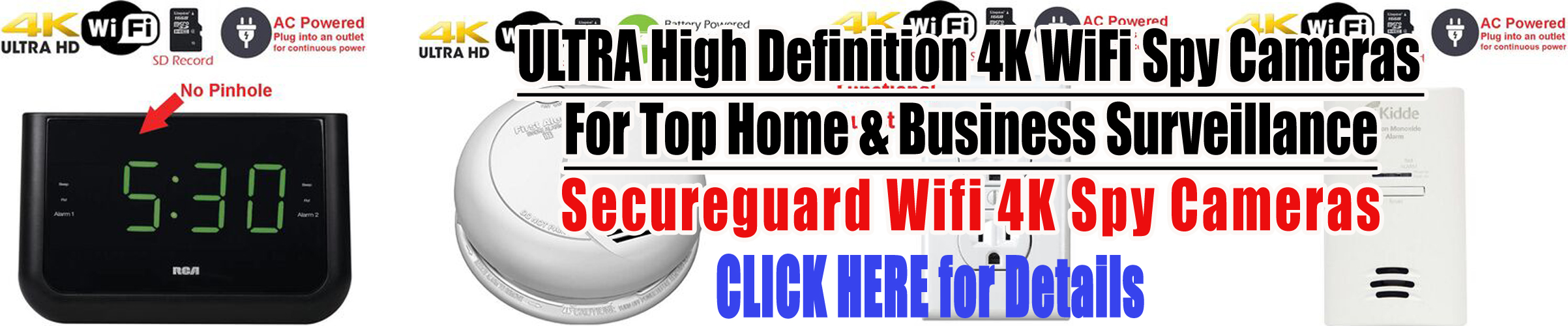 Secureguard 4K Wifi Spy Cemeras