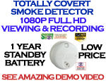 Ultra Life 1080P High Definition Smoke Detector w/6 Month Battery