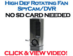 Bush Baby 3 Fan High-Def Spy Cam/DVR